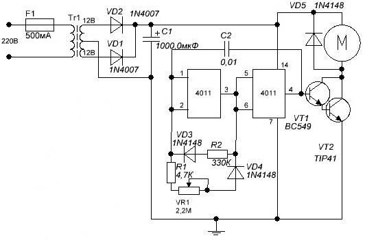 Регулятор оборотов двигателя на 12 вольт
