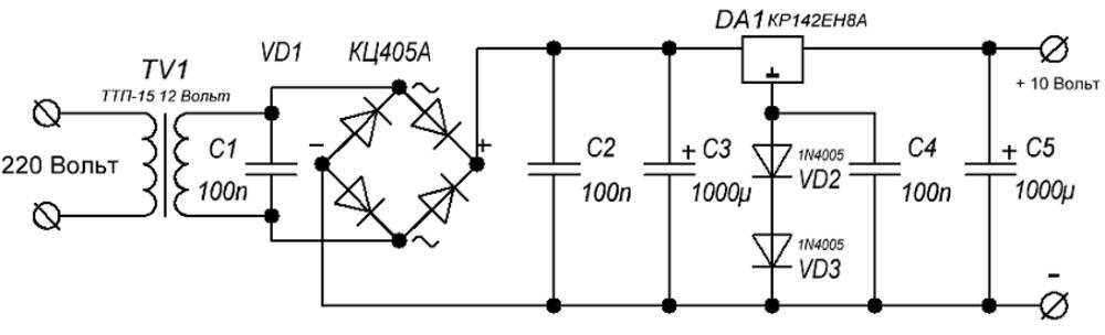 Схему блока питания на 12 вольт 10 ампер своими руками