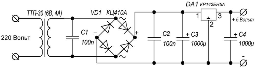 Стабилизатор напряжения на 1.5 вольта схема для часов
