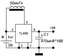 Преобразователь напряжения с 3.7 на 9 вольт