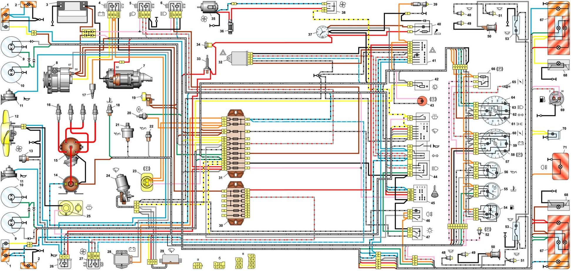 схема проводки уаз 512