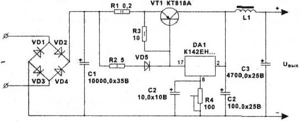 Стабилизатор напряжения 5 ампер схема фото 604
