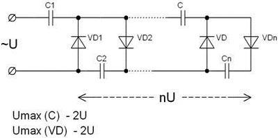 Несимметричный умножитель напряжения (Кокрофта-Уолтона)